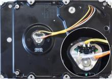 Подключение выводов двигателя жесткого дика